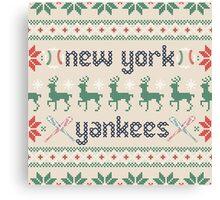 Christmas New York Yankees Canvas Print