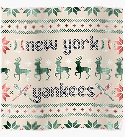 Christmas New York Yankees Poster