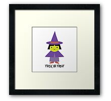 Trick or Treat - Cute Witch Framed Print