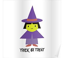 Trick or Treat - Cute Witch Poster