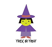 Trick or Treat - Cute Witch Photographic Print