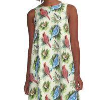 Birds and Branches A-Line Dress