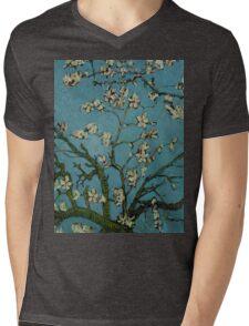 Van Gogh- Almond Blossoms Mens V-Neck T-Shirt