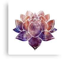 Buddhist Lotus Flower Canvas Print