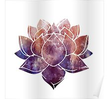 Buddhist Lotus Flower Poster