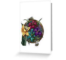 Daffodils & Daylilies Greeting Card