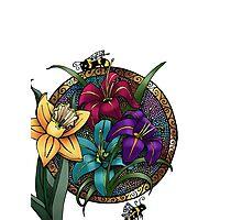 Daffodils & Daylilies Photographic Print