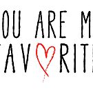 You are my favorite text design with red scribble heart by beakraus