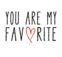 You are my favorite text design with red scribble heart Photographic Print