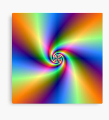 Psychedelic Four Winds Spiral Canvas Print