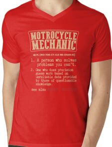 Motorcycle Mechanic Dictionary Mens V-Neck T-Shirt