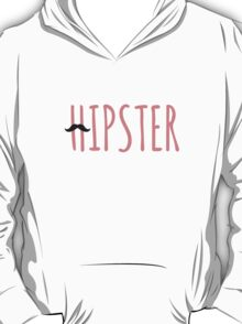 Hipster mustache coral T-Shirt
