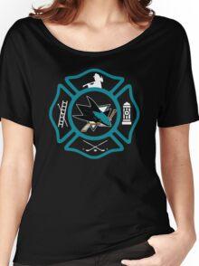 San Jose Fire - Sharks style Women's Relaxed Fit T-Shirt