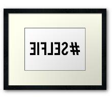 Hash tag selfie, inverted, word art, text design Framed Print