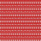 Border Terrier Silhouettes Christmas Sweater Pattern by Jenn Inashvili