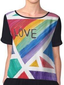 Love is Love is Love Chiffon Top