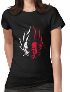 Super Saiyan Vegeta Half Face Womens Fitted T-Shirt