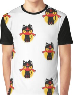 Pokemon Sun and Moon Litten Graphic T-Shirt