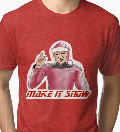 Make It Snow Tri-blend T-Shirt