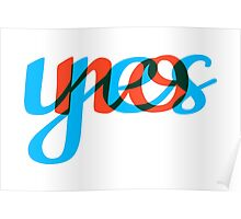 Yes, no, text design, word art Poster