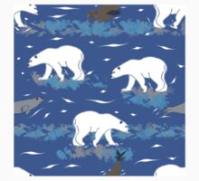 Polar Bears Hunting the Seals  Kids Tee