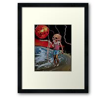 Dark Day At The Beach Framed Print
