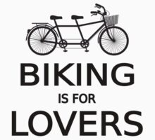 biking is for lovers, tandem bicycle, word art, text design  Baby Tee