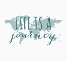 Life is a journey, teal world map T-Shirt