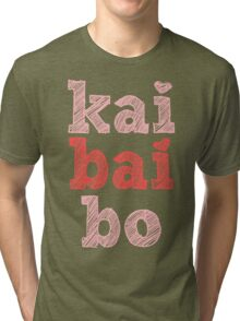 Kai Bai Bo and Hearts Tri-blend T-Shirt