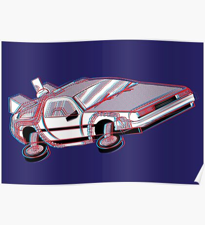 3-Delorean Poster