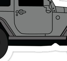 Grey Jeep Sticker