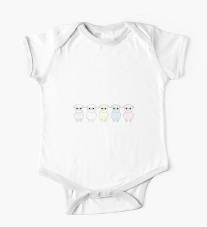 Amuse Five Colours Baby Alpacasso One Piece - Short Sleeve