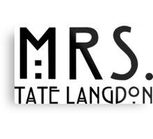 mrs tate langdon Metal Print