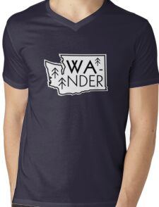 Wander Washington Mens V-Neck T-Shirt