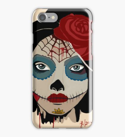 the painted dead iPhone Case/Skin