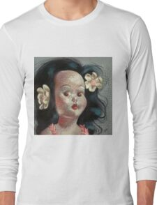 I'm Fine #9, (Hawaiian Doll) Long Sleeve T-Shirt
