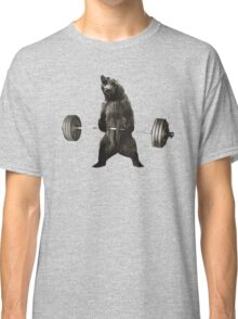 Bear Lifting Weights Funny Classic T-Shirt