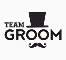 Team Groom t-shirt with hat and mustache by beakraus