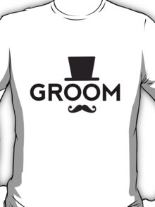 Groom t-shirt with hat and mustache T-Shirt