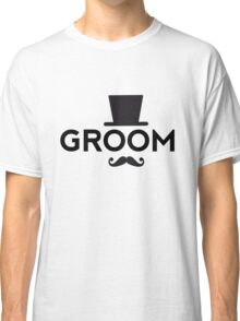 Groom t-shirt with hat and mustache Classic T-Shirt