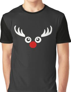 Christmas Reindeer Funny Graphic T-Shirt