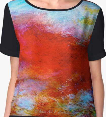 "Abstract...The ""Typhon"" Women's Chiffon Top"