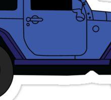 Blue Jeep Sticker