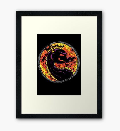 Kombat the Dragon Framed Print