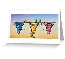 Budgie Smugglers Greeting Card