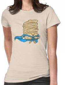 Captain Pancake Descends! Womens Fitted T-Shirt
