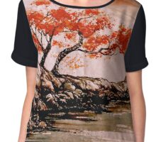 Autumn Water Chiffon Top