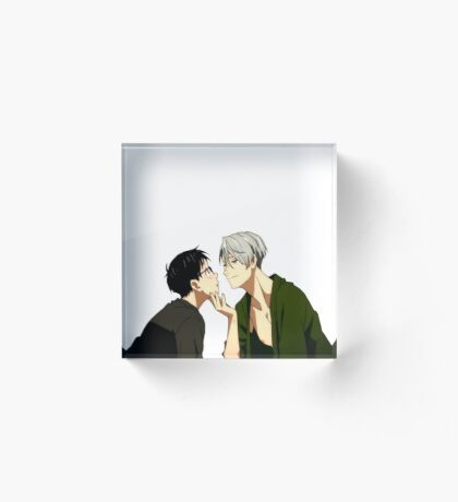 Touching  - Yuri!!! on Ice  Acrylic Block