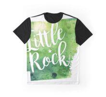 Arkansas Watercolor Map - Little Rock Hand Lettering - Giclee Print of Original Art Graphic T-Shirt
