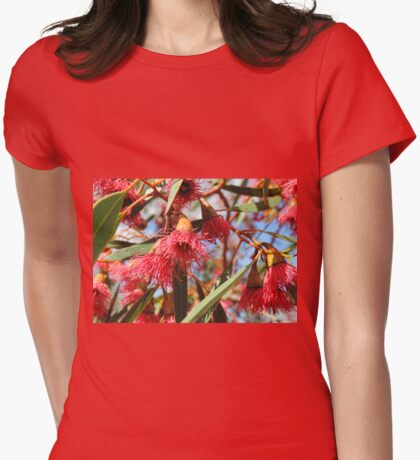 Flowers of a Red Flowering Gum Womens Fitted T-Shirt